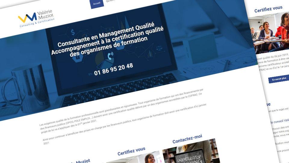 Nouveau site internet consacré au consulting en management qualité et à l'accompagnement à la certification qualité des organismes de formation